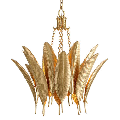 Featherette Mystic Gold 26-Inch Four-Light Chandelier