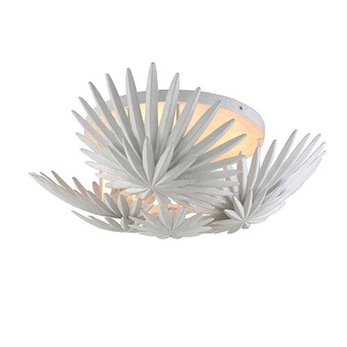 Savvy Gesso White Three-Light Semi-Flush Mount