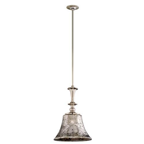 Corbett Argento Polished Nickel One-Light Large Wide Mini Pendant