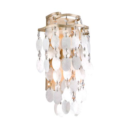Corbett Dolce Champagne Leaf Two-Light Medium Wall Sconce