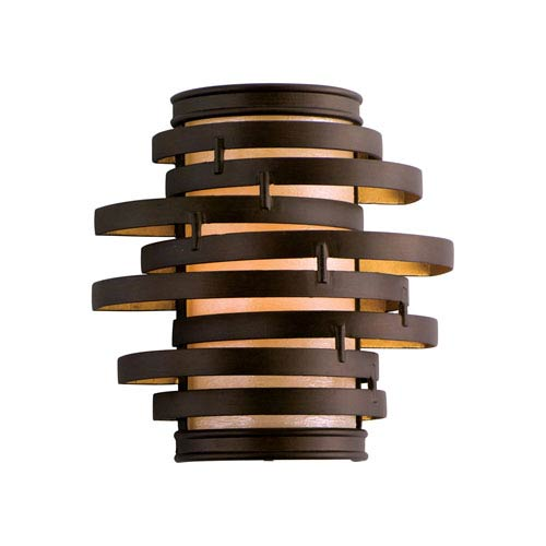 Vertigo Bronze with Gold Leaf One-Light Wall Sconce