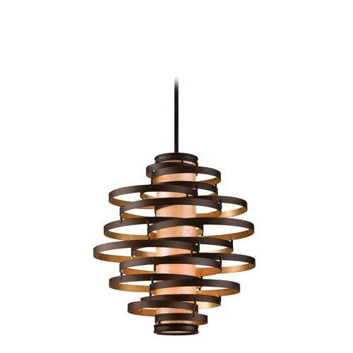 Vertigo Bronze with Gold Leaf Four-Light Pendant