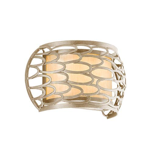 Corbett Cesto Modern Silver One-Light Wall Sconce