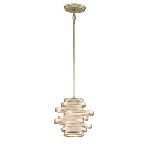 Corbett Vertigo Modern Silver  One-Light Fluorescent Mini Pendant