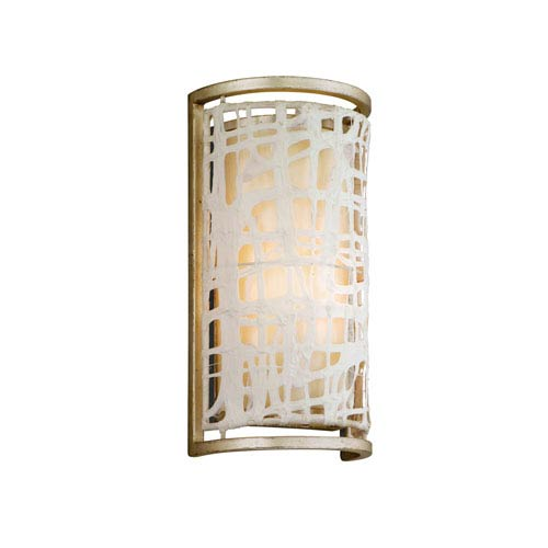 Corbett Kyoto Silver Leaf One-Light Wall Sconce