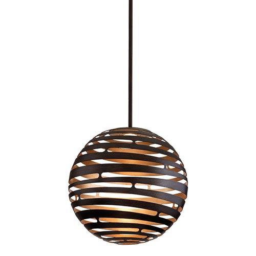 Tango Textured Bronze Large One-Light LED Pendant