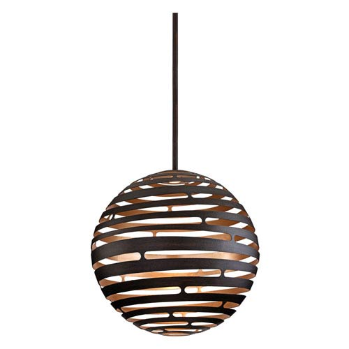 Tango Textured Bronze Extra Large One-Light LED Pendant
