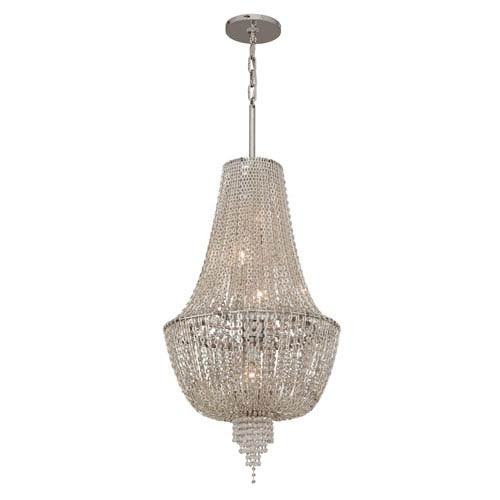 Corbett Vixen Polished Nickel Five-Light Jewel Pendant