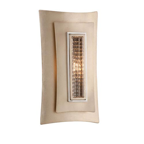Muse Tranquility Silver Leaf with Polished Stainless Accents One-Light Wall Sconce