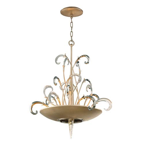 Crescendo Tranquility Silver Leaf Six-Light Pendant