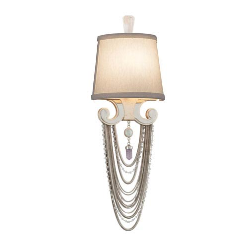 Flirt Modern Silver Leaf with Polished Stainless Accents One-Light Wall Sconce