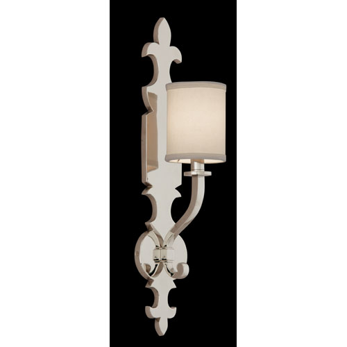 Esquire Polished Nickel 1-Light Wall Sconce