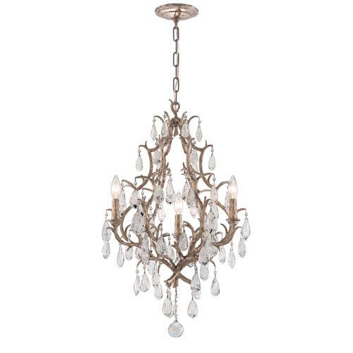 Corbett Amadeus Vienna Bronze Three-Light Chandelier with Italian Drops