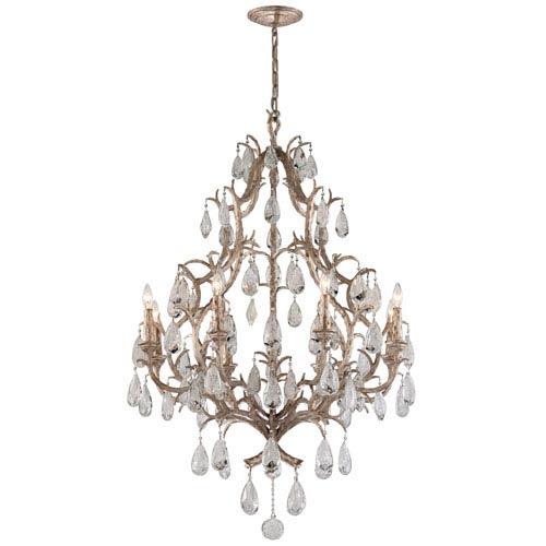 Corbett Amadeus Vienna Bronze Eight-Light Chandelier with Italian Drops