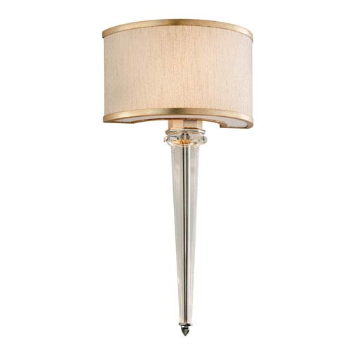 Harlow Tranquility Silver Leaf with Polished Stainless AccentsTwo-Light LED Wall Sconce