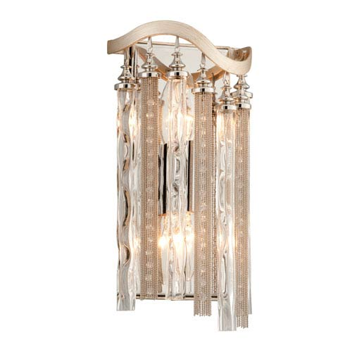 Chimera Tranquility Silver Leaf Two-Light Small Wall Sconce
