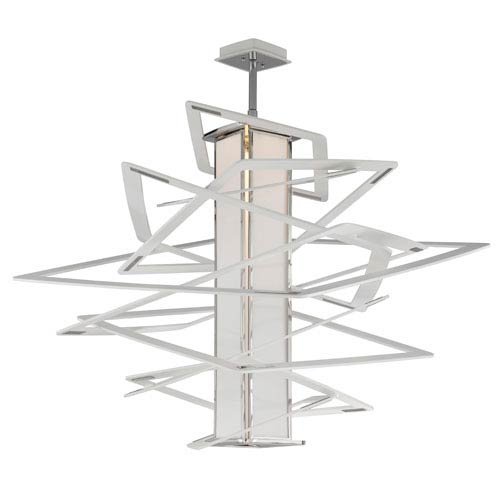 Corbett Tantrum White with Polished Stainless Accents LED 43-Inch Height Pendant