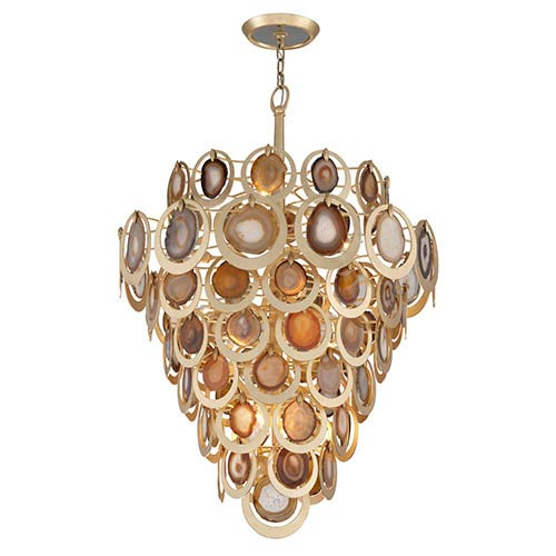 Rock Star Gold Leaf 16-Light Pendant