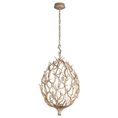 Enchanted Enchanted Silver Leaf 18-Inch One-Light LED Pendant