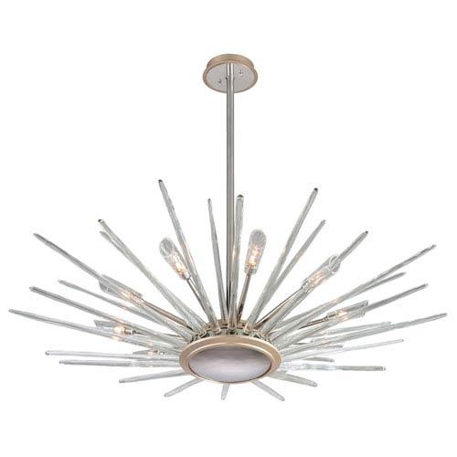 Corbett Chill Silver Leaf 60-Inch Ten-Light Pendant