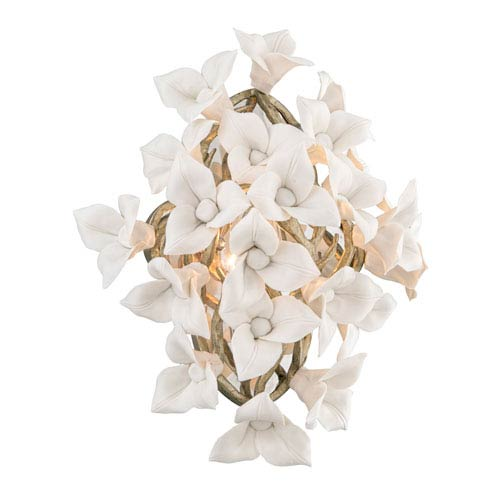 Corbett Lily Enchanted Silver Leaf 12.5-Inch One-Light  Wall Sconce