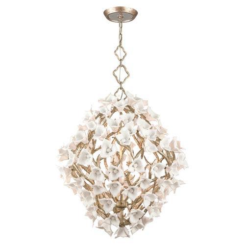 Corbett Lily Enchanted Silver Leaf 32.5-Inch Eight-Light  Pendant
