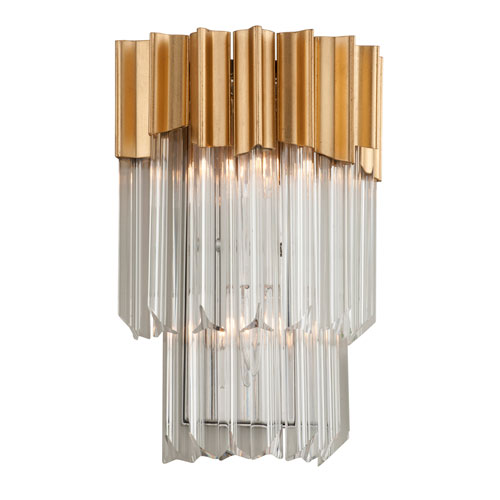 Charisma Gold Leaf Two-Light Wall Sconce