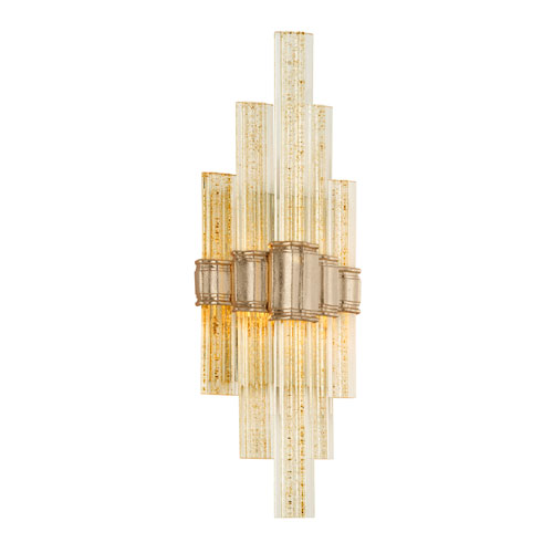 Voila Gold Leaf LED One-Light Wall Sconce with Gold Glass