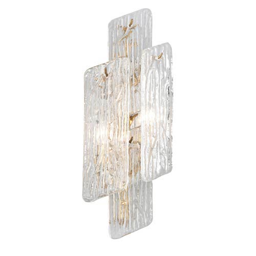 Piemonte Royal Gold 9-Inch Two-Light Wall Sconce