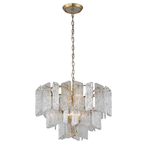 Piemonte Royal Gold 32-Inch Eight-Light Chandelier