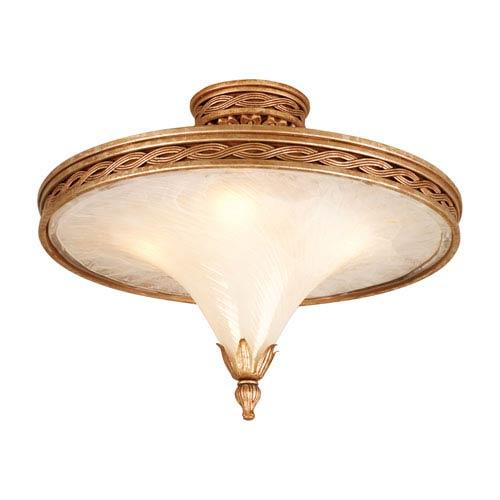 Corbett Tivoli Silver Four-Light Large Semi-Flush