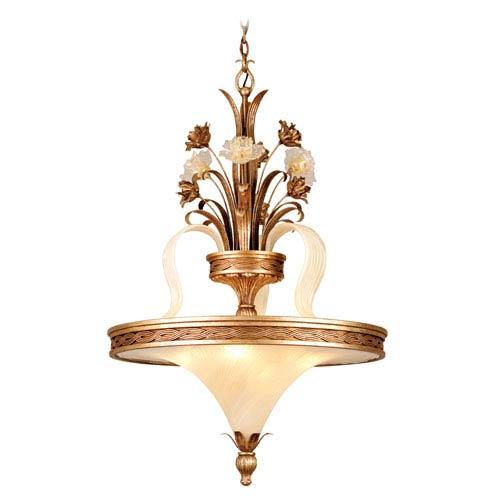 Corbett Tivoli Silver Four-Light Bowl Pendant