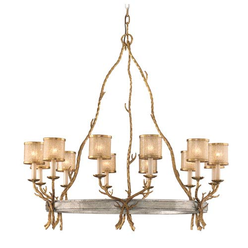 Parc Royal Gold and Silver 12-Light Chandelier