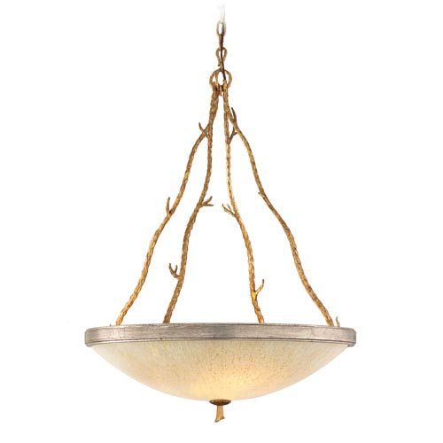 Parc Royal Gold and Silver Five-Light Large Bowl Pendant