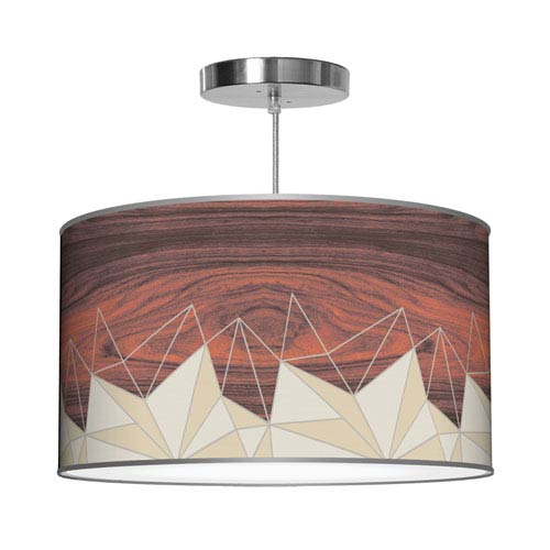 Facet Cream 16-Inch One-Light Pendant