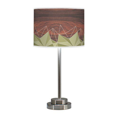 Facet Multicolor One-Light Table Lamp with Green Stem