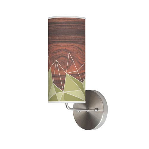 Facet Green One-Light Wall Sconce