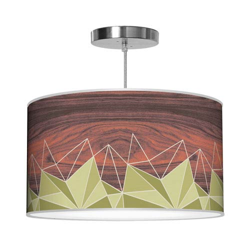Facet Green 16-Inch One-Light Pendant