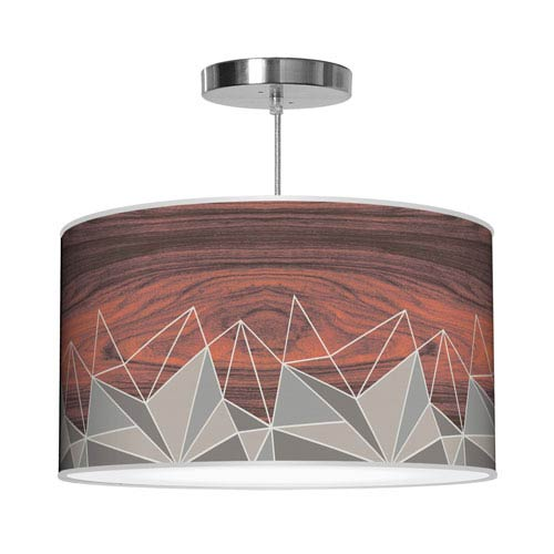 Facet Grey 16-Inch One-Light Pendant