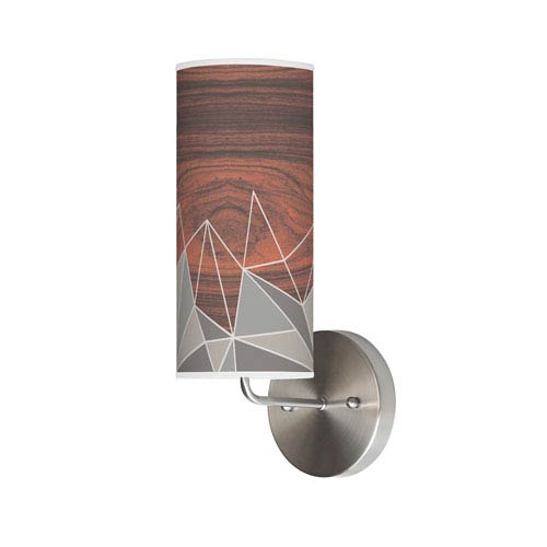 Facet Grey One-Light Wall Sconce
