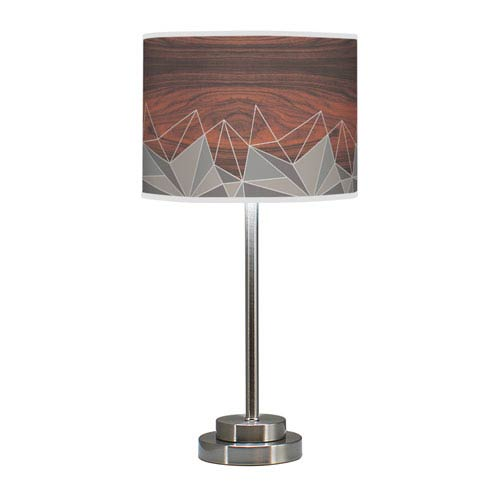 Facet Multicolor One-Light Table Lamp with Grey Stem
