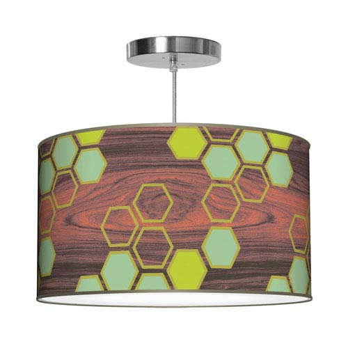 Hex Green 16-Inch One-Light Pendant
