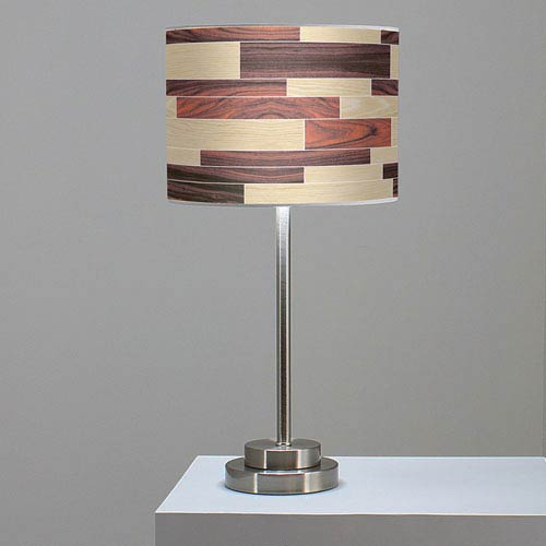 Tile 4 Oak and Rosewood One-Light Table Lamp