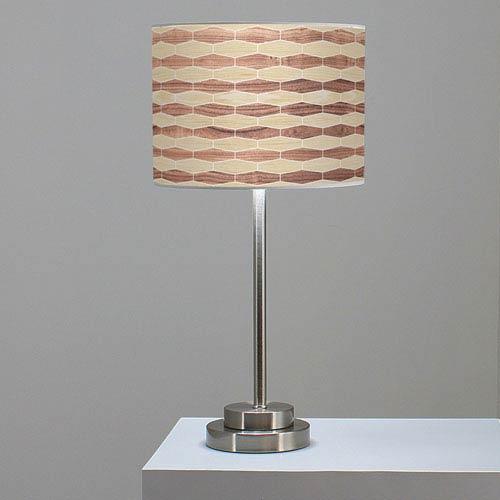 Weave 4 Oak and Walnut One-Light Table Lamp
