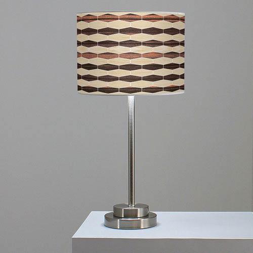 Weave 4 Oak and Ebony One-Light Table Lamp