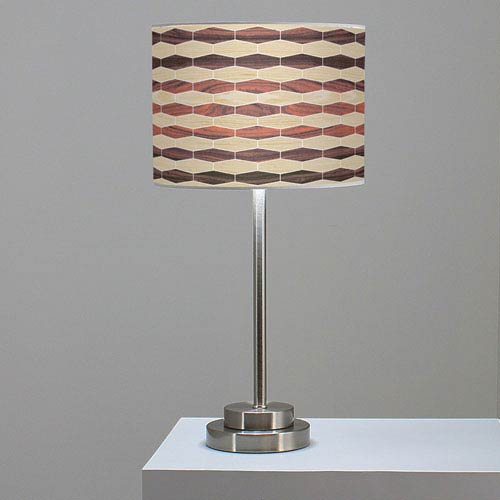 Weave 4 Oak and Rosewood One-Light Table Lamp
