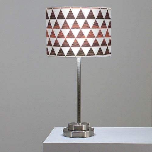 Triangle 1 Rosewood One-Light Table Lamp