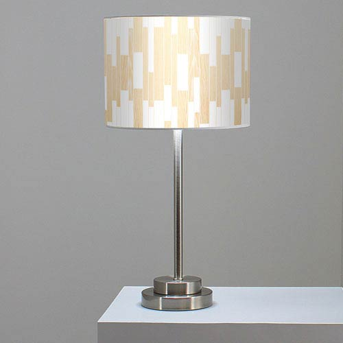 Tile 1 White Oak One-Light Table Lamp