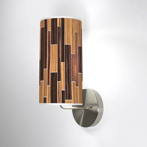 Tile 2 Zebrawood and Ebony One-Light Wall Sconce