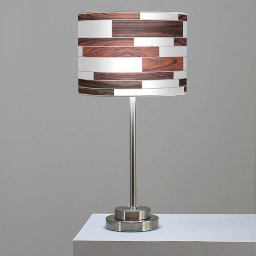 Jef Designs Tile 3 Rosewood One Light Table Lamp